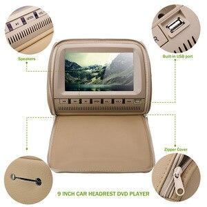 Image 5 - 2 pcs 9 인치 dvd headrest 자동차 모니터 800*480 지퍼 커버 tft lcd 화면 mp5 플레이어 지원 ir/fm/usb/sd/스피커/게임 자동차 tv