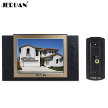 JERUAN Home Wired 8 inch Video Door Phone Recording Intercom system 700TVL Metal IR Night Vision pinhole Camera FREE SHIPPING