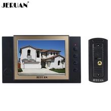 JERUAN Domestique Câblé 8 pouce Vidéo Porte Téléphone Enregistrement Intercom système 700TVL Métal IR Nuit Vision sténopé Caméra LIVRAISON GRATUITE