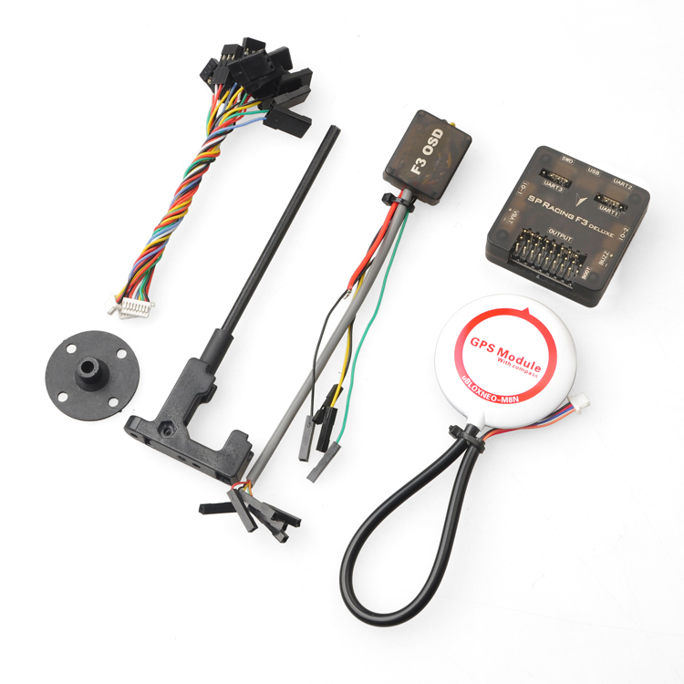 SP Racing F3 Flight Control Deluxe 10DOF with M8N-GPS M8N GPS OSD Combo for DIY Mini 250 280 210 RC Quadcopter Drone FPV f2s flight control with m8n gps t plug xt60 galvanometer for fpv rc fixed wing aircraft