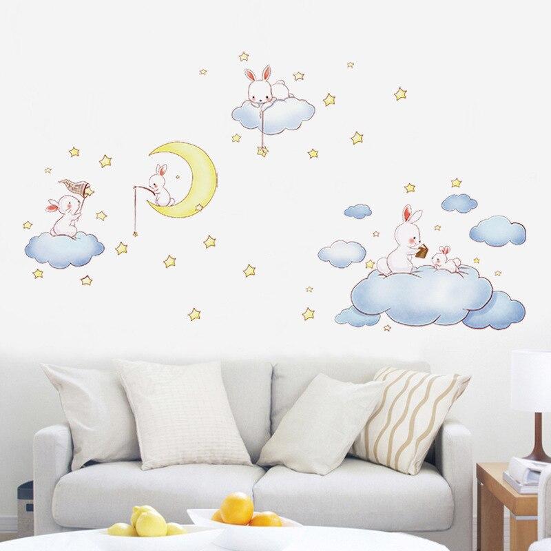 Buy inkaneare cute cartoon cloud rabbit - Dibujos para decorar habitacion de bebe ...