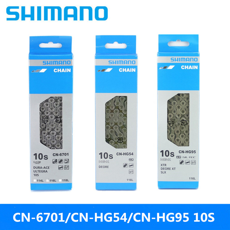 SHIMANO CN-HG54/HG95/HG6701 Mountain Bike/road Bike 10 Speed Universal Shift Chain Brand New Original With Magic Buckle With Box