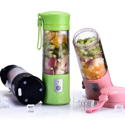 420ml Capacity Small Mini Portable Multifunctional Electric Juicer USB Charging Stainless Steel Cutter Head Quick Juicing