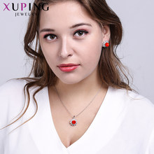 Xuping Fashion Retro Imitation Pearl Pendant Earrings Jewelry Sets Specially Design High Quality Party Gift Ladies S168-60090(China)