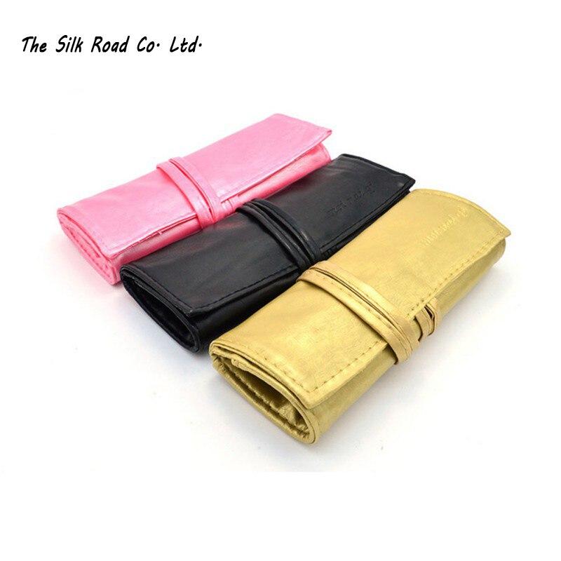 a34e703fe0277 الأزياء حقيبة لفرش مساحيق التجميل حماية الحقيبة ل 7 pcs فرش مجموعة 3 ألوان  PU حالة عالية الجودة