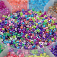 ILITAO Transparent Glass Beads With Box DIY Jewelry Accessories 4mm Small Candy Beads Round Glass Bead
