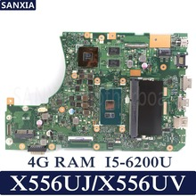 KEFU X556UJ Laptop motherboard for ASUS X556UJ X556UV X556UB X556UR X556UF X556U Test original mainboard 4G RAM I5-6200U
