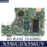 KEFU X556UJ Laptop motherboard for ASUS X556UJ X556UV X556UB X556UR X556UF X556U Test original mainboard 4G RAM I5 6200U