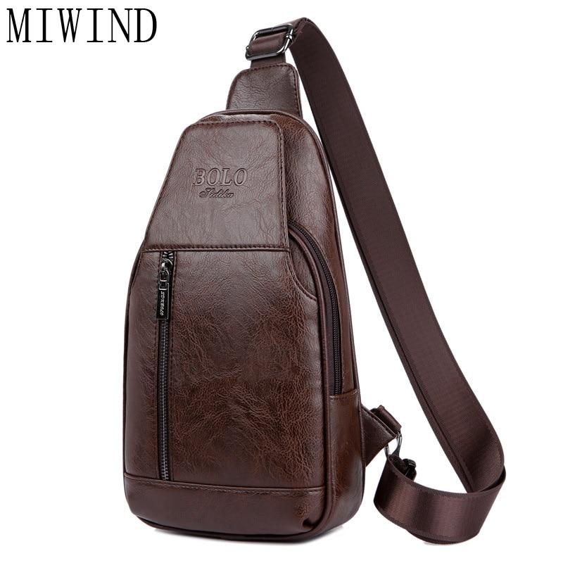 MIWIND Brand Bag Men Chest Pack Single Shoulder Strap BackBag  Men Chest Bag Pack Crossbody Shoulder Messenger TSD973 miwind 100