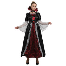 Adult Womens Deluxe Elite Countess Vampiress Costume Vampira Cosplay Halloween Carnival Mardi Gras Party Fancy Dress