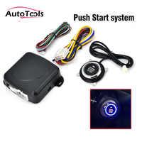 Autostart auto stop Motor system push button keyless entry system 12v auto alarm sysem start stop taste