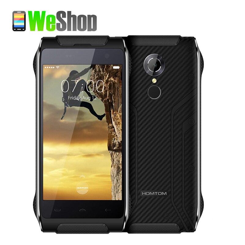 bilder für Original homtom ht20 smartphone android 6.0 mt6737 quad-core-handy 2 gb + 16 gb wasserdichte ip68 4g lte fingerprint handy