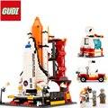 679 unids Tecnología Legoelied Centro de Lanzamiento Del Transbordador Espacial del Cohete de Astronauta Espaciopuerto Modelo de Bloques de Construcción de Regalo Juguete de Niño