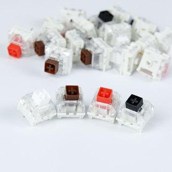 Przełączniki Kailh Box czarny czerwony brązowy biały RGB SMD przełączniki pyłoszczelny przełącznik mechaniczna klawiatura do gier IP56 wodoodporny mx tanie i dobre opinie Readson Pulpit english 104 Klawiszy Przewodowy Mechaniczne Standardowy