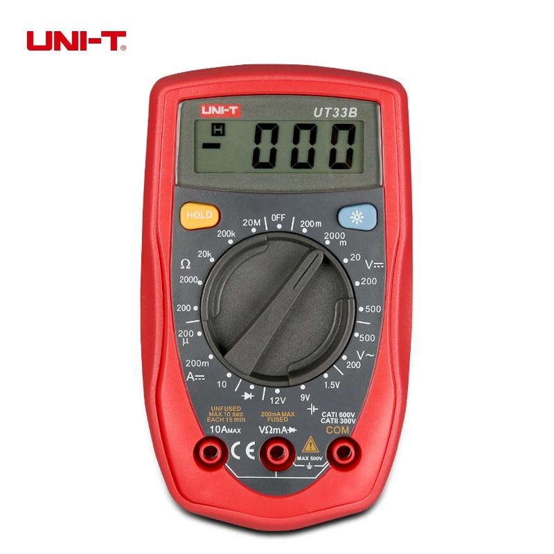 UNI-T UT33B UT33C UT33D Palm Taille Multimètres Numériques Électrique Handheld Tester Voltmètre Ampèremètre LCD Affichage