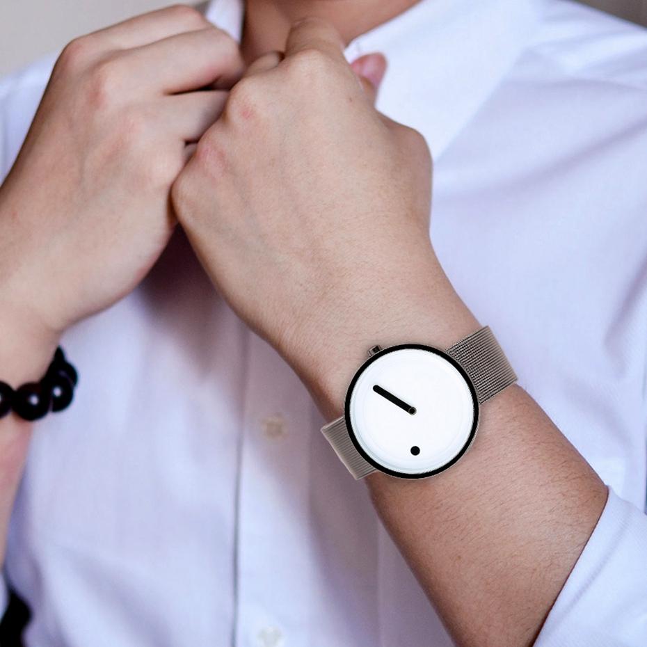 Fashion Mens Unique Pointer Face Sport Watch Luxury Super Slim Mesh Stainless Steel Band Clock Casual Women Quartz Wrist Watch 2017 Christmas Gifts (16)