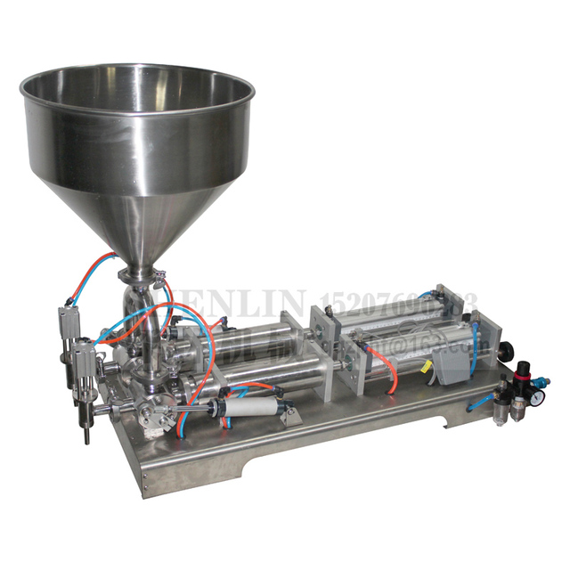 SHENLIN Rotary filling machine semi automatic pneumatic filler water shampoo juice oil lubricant piston filler 1000ML pasta fill