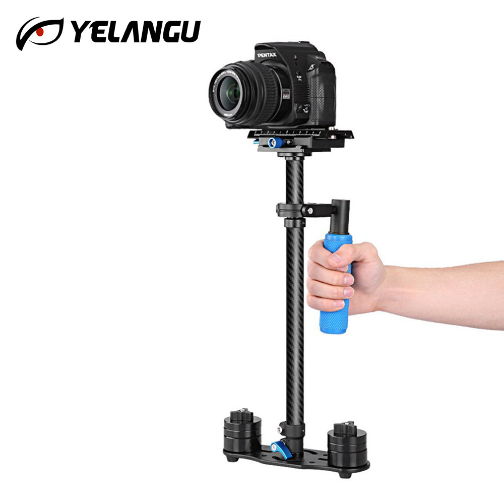YELANGU High Strength Carbon Fiber Handheld Video Camera Stabilizer Steadicam 60cm Steadycam for Nikon Canon Sony Panasonic DSLR ajustable s60 gradienter handheld stabilizer steadycam steadicam photo studio stabilizer accessories for camcorder dslr