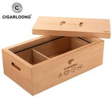 CIGARLOON Cigar box moisturizing cedar wood large capacity cabinet paint cigarette case