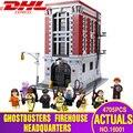 DHL 16001 juguetes de construcción los 75827 Ghostbusters estación de bomberos conjunto de bloques de construcción Kits de ensamblaje juguetes para niños regalos