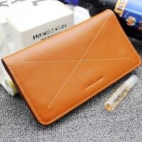 2016 Luxury Male 100% Original Leather Purse Men's Clutch Wallets Handy Bags Business Carteras Mujer Wallets Men Dollar Price