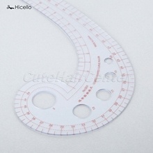 Hot Selling 1PC Plastic Curve Ruler Sewing Tools Soft Comma Shaped Curve Ruler Styling Design Ruler French Curve 30 x 11cm
