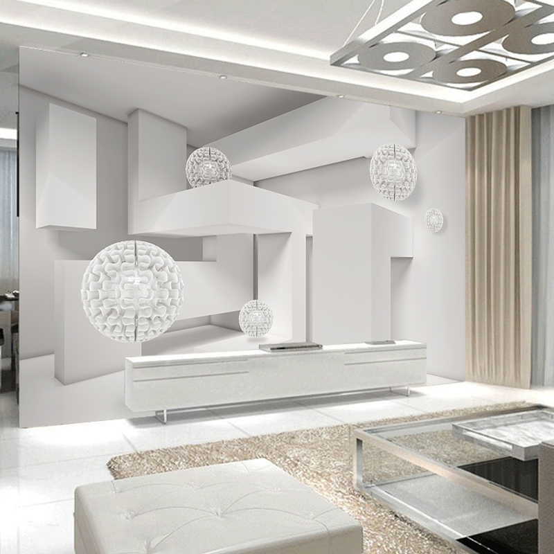 JiaSheMeiJu Custom 3D Photo Wallpapers 3D Stereoscopic Space Ball Wall Mural Modern Abstract Art Wallpaper For Living Room Decor