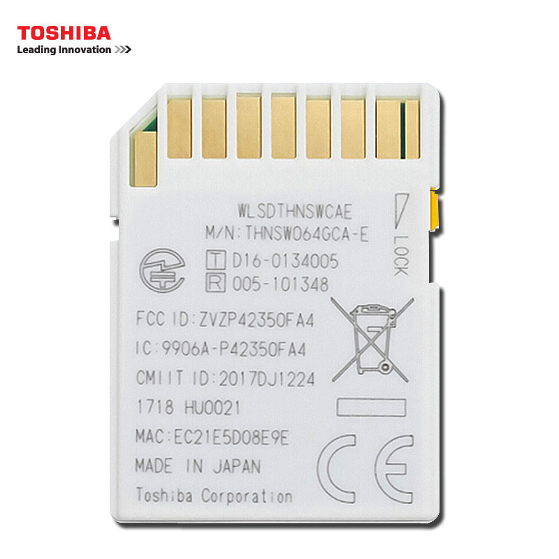 Image 4 - TOSHIBA WiFi Memory Card 32GB 16GB 64GB SD Card 32GB Class 10 U3 FlashAir W 04 Memory Card Flash WiFi SD Card For Digital Camera-in Memory Cards from Computer & Office