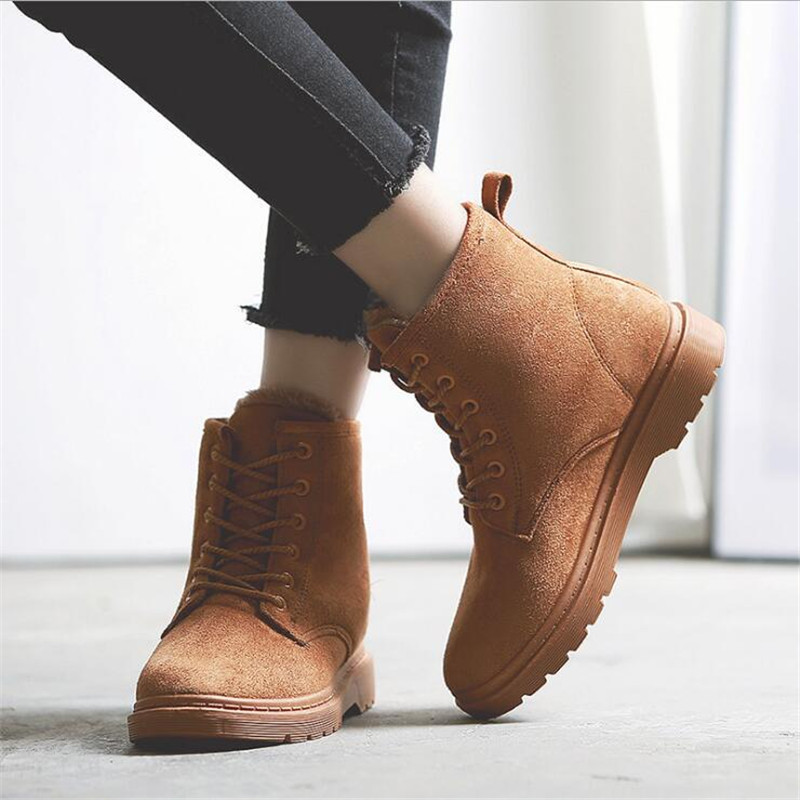 99b339e4b3d GOXPACER Winter Casual Boots Women Boots Low Heel Wedges Round Toe Thermal  Female Fashion Shoes Platform ...