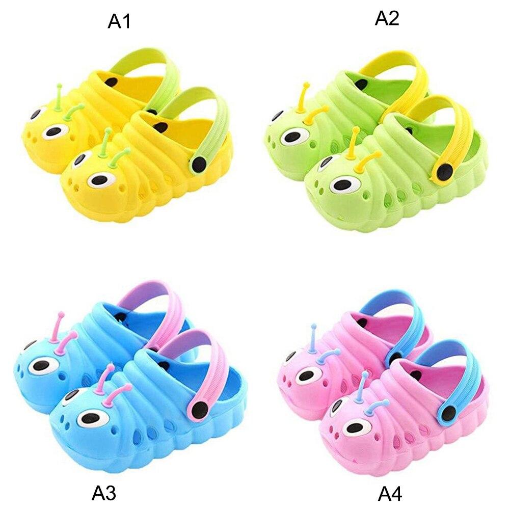 Super X Summer Toddler Baby Boy Girl Cute Cartoon Caterpillar Non-Slip Beach Sandals Slippers Flip Shoes