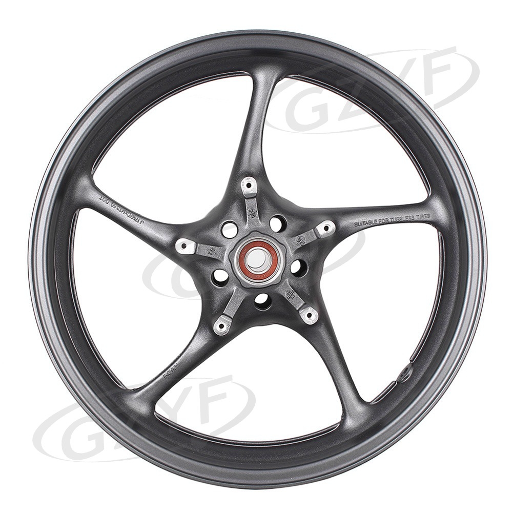 Motorcycle Front Alloy Wheel Rim For yamaha YZF R6 2003 2004 2005 2006 2007 2008 2009 2010 2011& 2006-2009 R6S Dark Gray Color for yamaha fz6 fz600 2004 2010 2005 2006 2008 2009 fz6n fz6s fz 6s fz 6n fz 600 motorcycle aluminium radiator cooling cooler