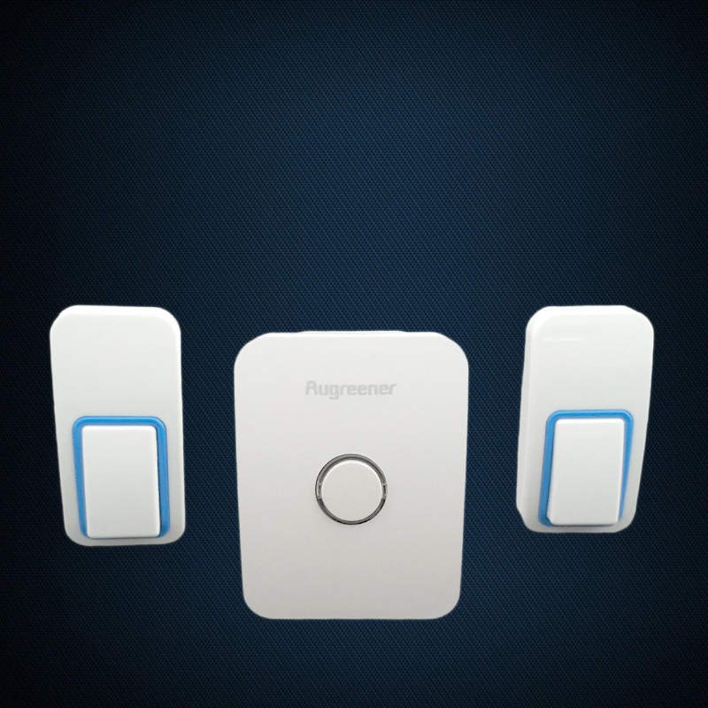 Wireless doorbell need no battery. 2 transmitters & 1 receiver that easy set up.25 rings. waterproof and cheap home door bell new 2 transmitters