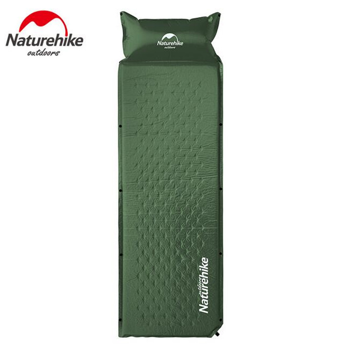 Naturehike Self Inflatable Sleeping Mat Mattress With Pillow Self-Inflating Sleeping Pad Foldable Bed Camping Tent Single Mat inflatable mattress beach mat automatic air mattress camping mat air bed with pillow sleeping pad 193 65
