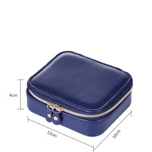 Jewelry Casket Cosmetic Storage Box Makeup Packing Organizer Earrings Ring Container Case Portable Leather new arrive hot 2pc set portable jewelry box make up organizer travel makeup cosmetic organizer container suitcase cosmetic case