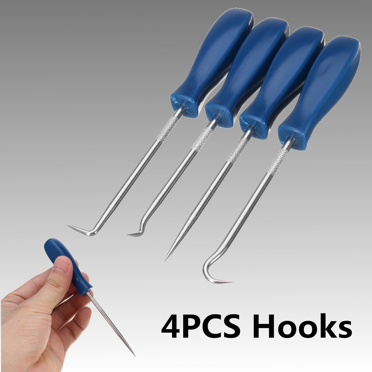4Pcs/set Car Pick And Hook Set O Ring Oil Seal Gasket Puller Remover Craft Hand Tool