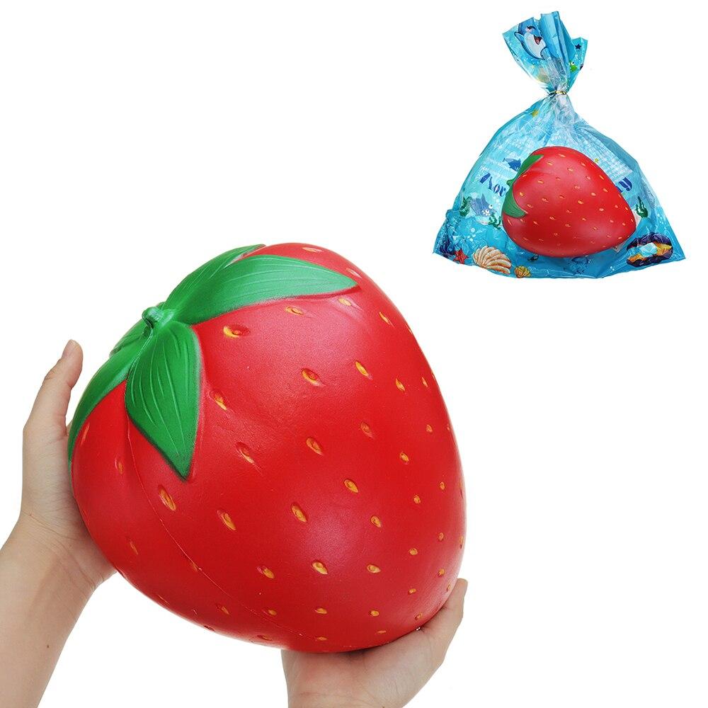 Enorme Gigante Fragola Squishy-Lento Aumento giocattolo 25 cm Morbido Squishies jumbo Frutta Spremere Per Bambini di Età Alleviare Lo Stress di Raccolta regalo