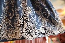 UK British Vestidos Femininos Summer Women Vintage Embroidery Denim Mini Dress Jeans Blouse Dresses