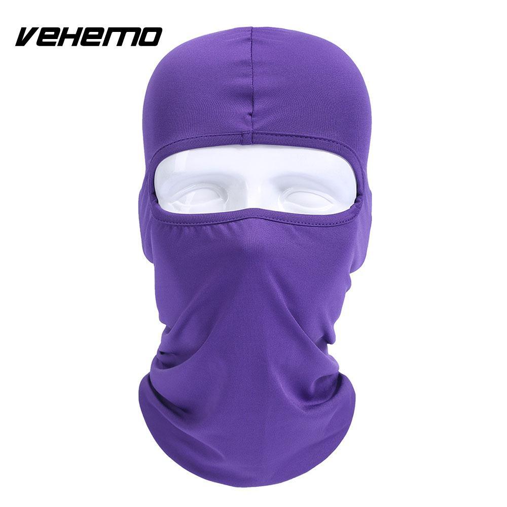 Vehemo аксессуары для улицы полная мотоциклетная маска для защиты лица шапки унисекс 14 цветов Практичная Балаклава лайкра защита удобный - Цвет: purple