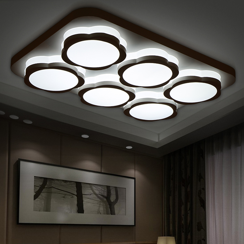 Modern led ceiling lights for living room acrylic bedroom for Modern living room ceiling lights