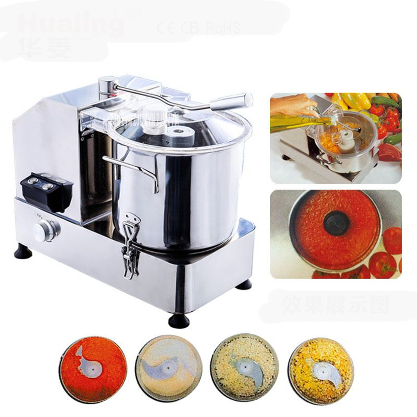 HR-9 restaurant used commercial 9L meat vegetable cutter food processor,110V/220V electric food cutting machine 1500-3000r / min wavelets processor