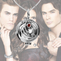 Dropshipping The Vampire Diaries Necklace Elena Vervain 925 Steling Silver Necklace Verbena Locket Pendant Cosplay Jewelry Hot