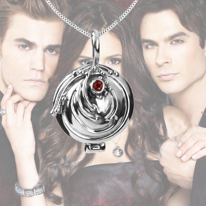 Dropshipping The Vampire Diaries collier Elena verveine S925 Steling collier en argent verveine médaillon pendentif Cosplay bijoux chauds