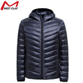 Men Winter Coats Jacket Men Ultralight Cotton Down Jackets Outdoors With A Hood Parka Homme With Buggy Bag 2016 BN104WS
