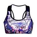 Women  Wire Free Owl Print TopTanks Push Up Brassiere Women's Underwear Seamless  Wide Back Bra Undies