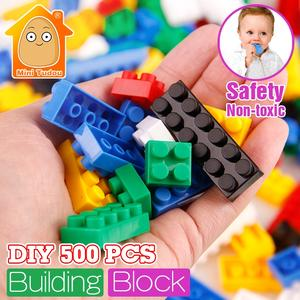 Kids Plastic 500PCS Small Brick Building DIY Mini Blocks City Toys Cube Plate Educational Gifts For Children Boys And Girls