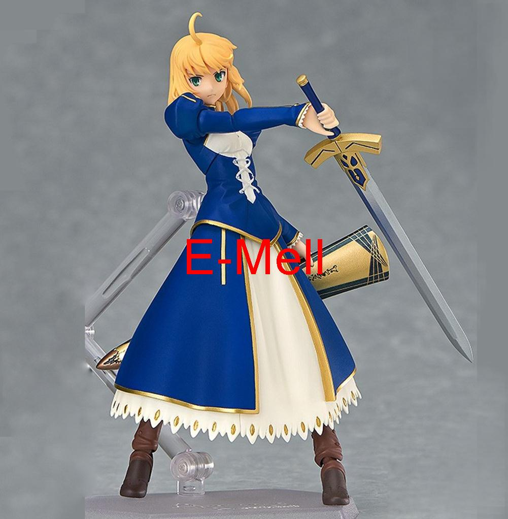 Fate Stay Night Fate Cosplay Saber 14cm/5.5'' Boxed FaceSwipe Garage Kit Action Figures Toys Face Change Model fate stay night fate cosplay saber 14cm 5 5 boxed faceswipe garage kit action figures toys face change model