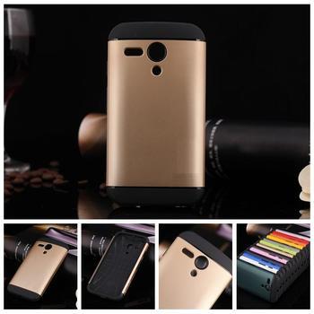 Smukła osłona przeciwstukowa dla Motorola MOTO G XT1028 XT1032 XT1031 silikonowa rama + plastikowa obudowa etui na telefon + 1x folia ekranowa