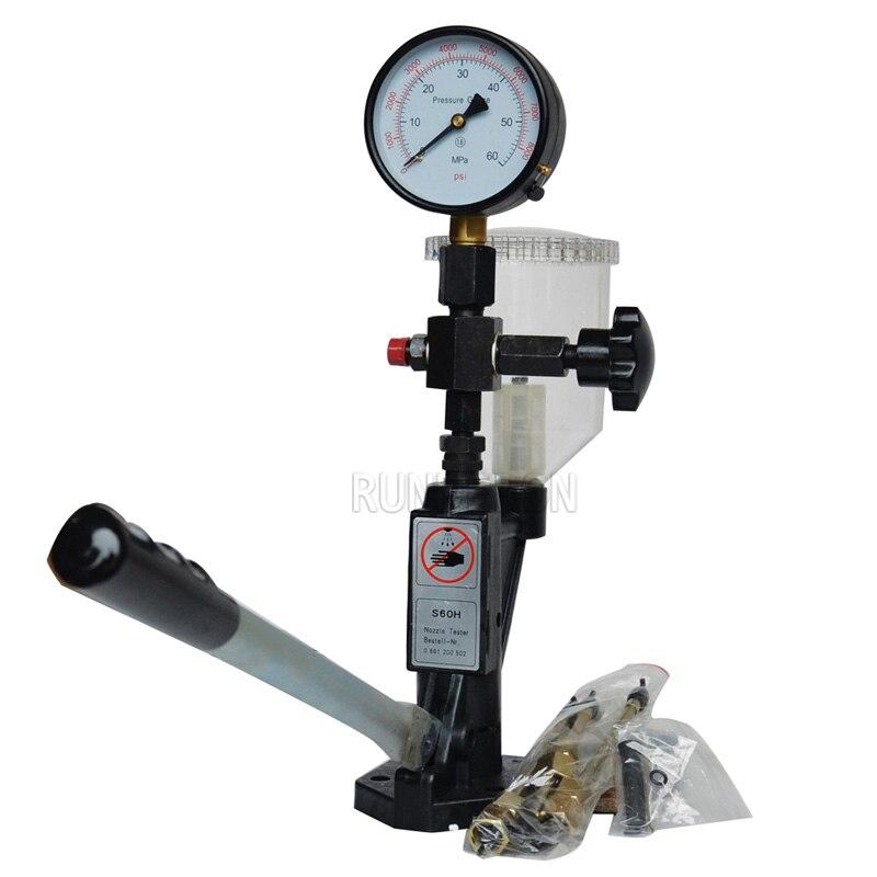 RUNDERON S60H Diesel Common-rail-injektor Kraftstoff Düse Tester Validator Diagnose Werkzeuge Hohe Qualität Heißer Verkauf