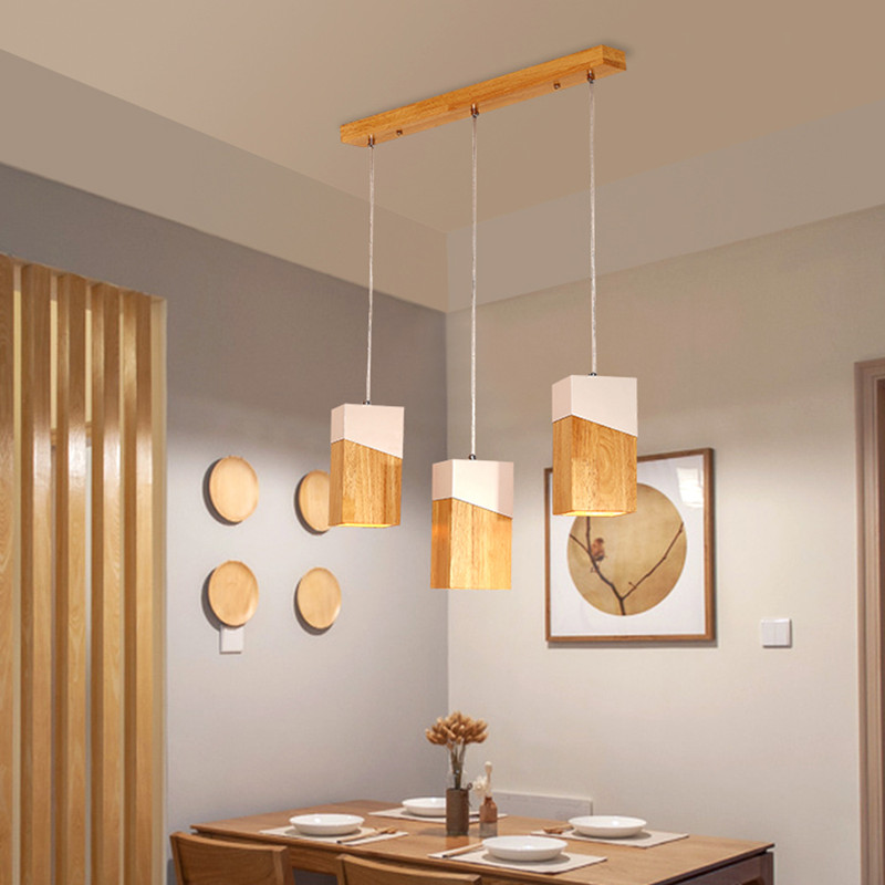 Nordic Design Wood Pendant Lights Modern Simple Iron Wooden Lampshade Pendant Lamps Restaurant Bar Hanging Lamp Light FixtureNordic Design Wood Pendant Lights Modern Simple Iron Wooden Lampshade Pendant Lamps Restaurant Bar Hanging Lamp Light Fixture