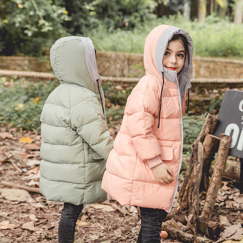 Baby Boys Girls Jacket 2018 Duck Down Winter Jacket Kids Warm Thick Hooded Children Outerwear Coat Toddler Girl Boy Clothing children s clothing girls winter down jacket 2018 baby kids long fur hooded thick outerwear toddler girl warm padded cotton coat